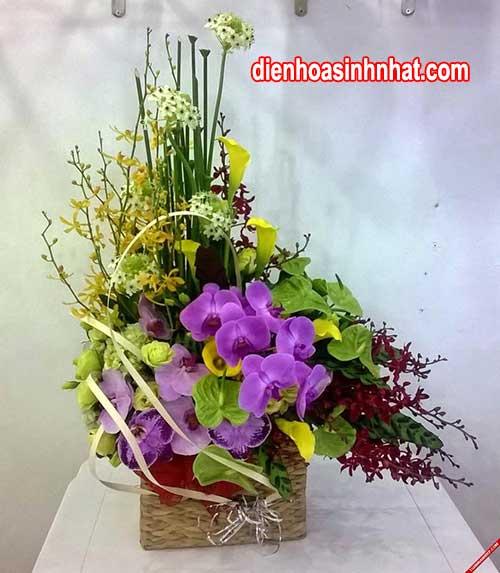 Giỏ hoa sinh nhật người yêu