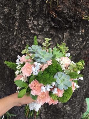 dạy cắm hoa cô dâu bó tròn